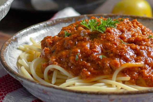 Hidden Vegetable Spaghetti Bolognese