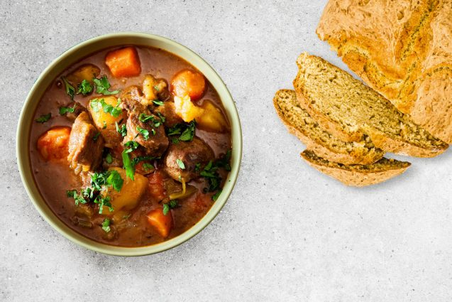 Lamb Irish Stew with Soda Bread