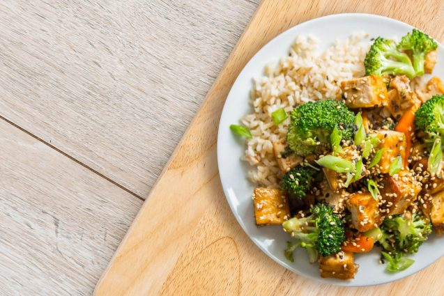 Vegan Tofu and Mixed Vegetable Stir Fry