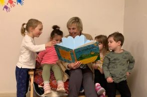Josephine Reading to Students.